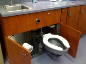 This is the cool toilet in the emergency room!